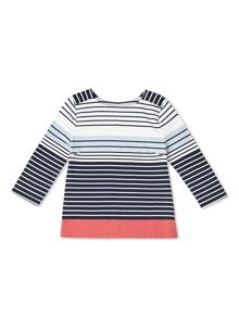 Dash Colour Block Stripe Top