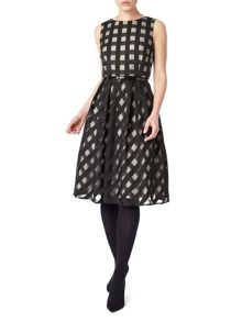 Precis Petite Carley Check Flared Dress