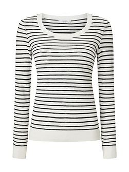 Alexa Stripe Pointelle Jumper