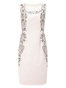 Precis Petite Leila Embroidered Pencil Dress