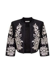 Precis Petite Daphne Embroidered Crop Jacket