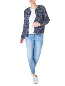 Dash Printed Tencel Bomber Jacket