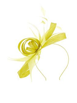 Chartreuse Bow Fascinator