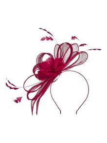 Precis Petite Raspberry Bow Fascinator