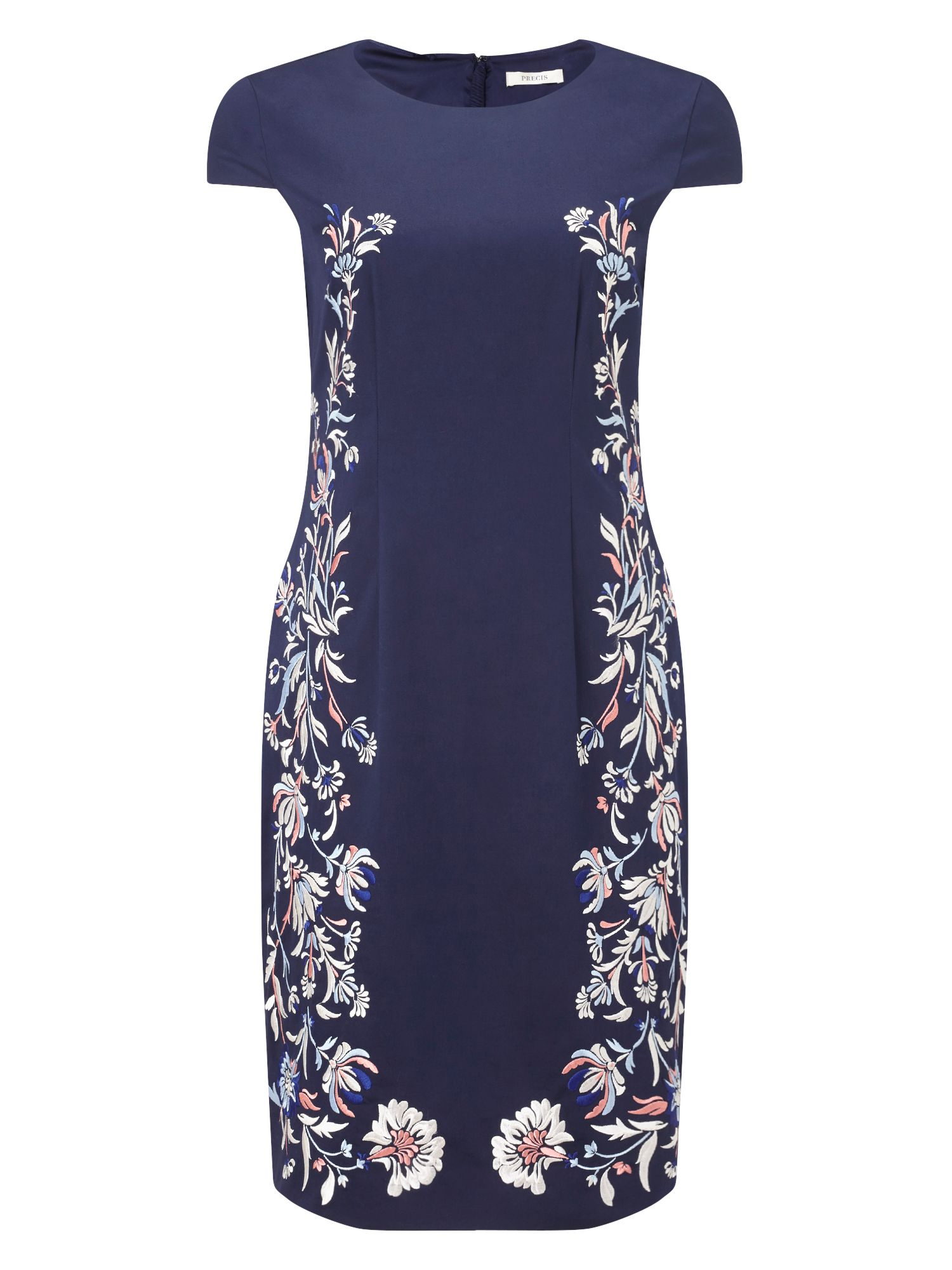 Precis Petite Petite Adele Embroidered Dress, Multi-Coloured
