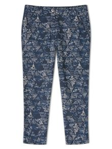 Dash Printed Tensel Chino