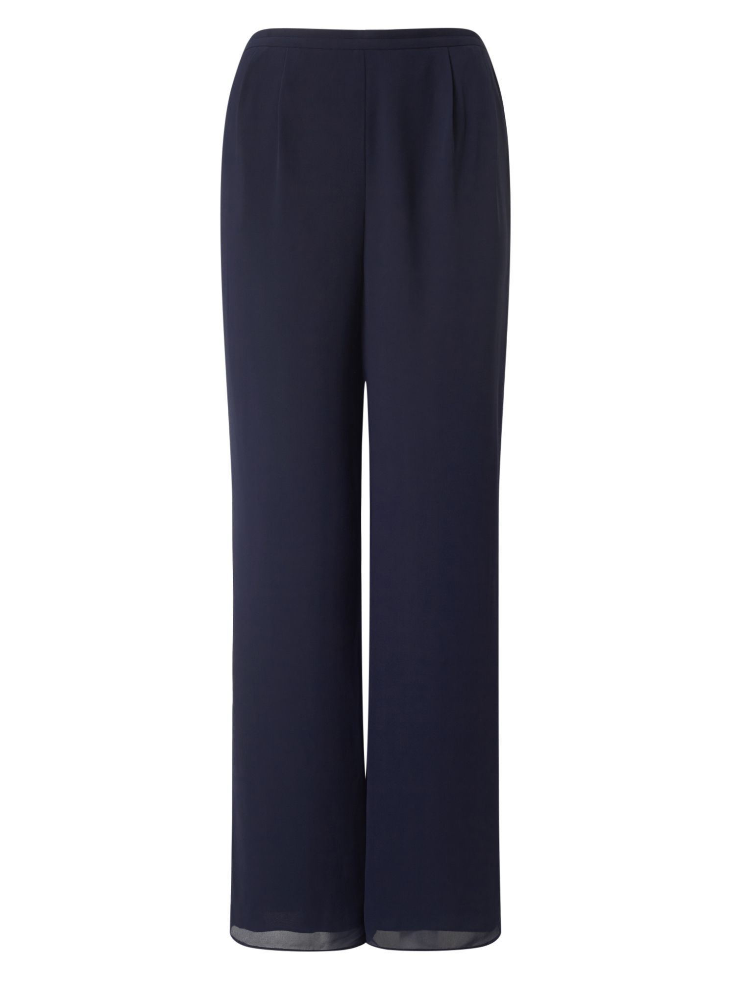 Jacques Vert Chiffon Straight Trouser, Blue
