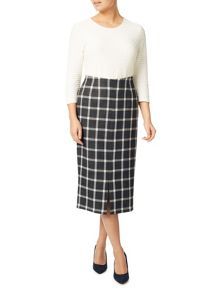 Eastex Check Pencil Skirt