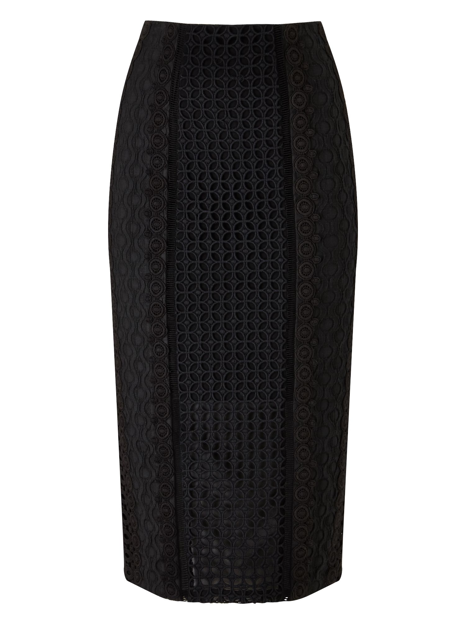 Precis Petite Elora Embroidery Pencil Skirt, Black
