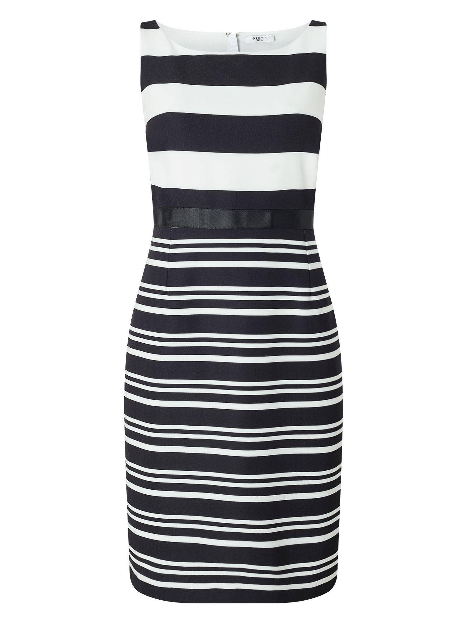Precis Petite Josie Stripe Shift Dress, Black