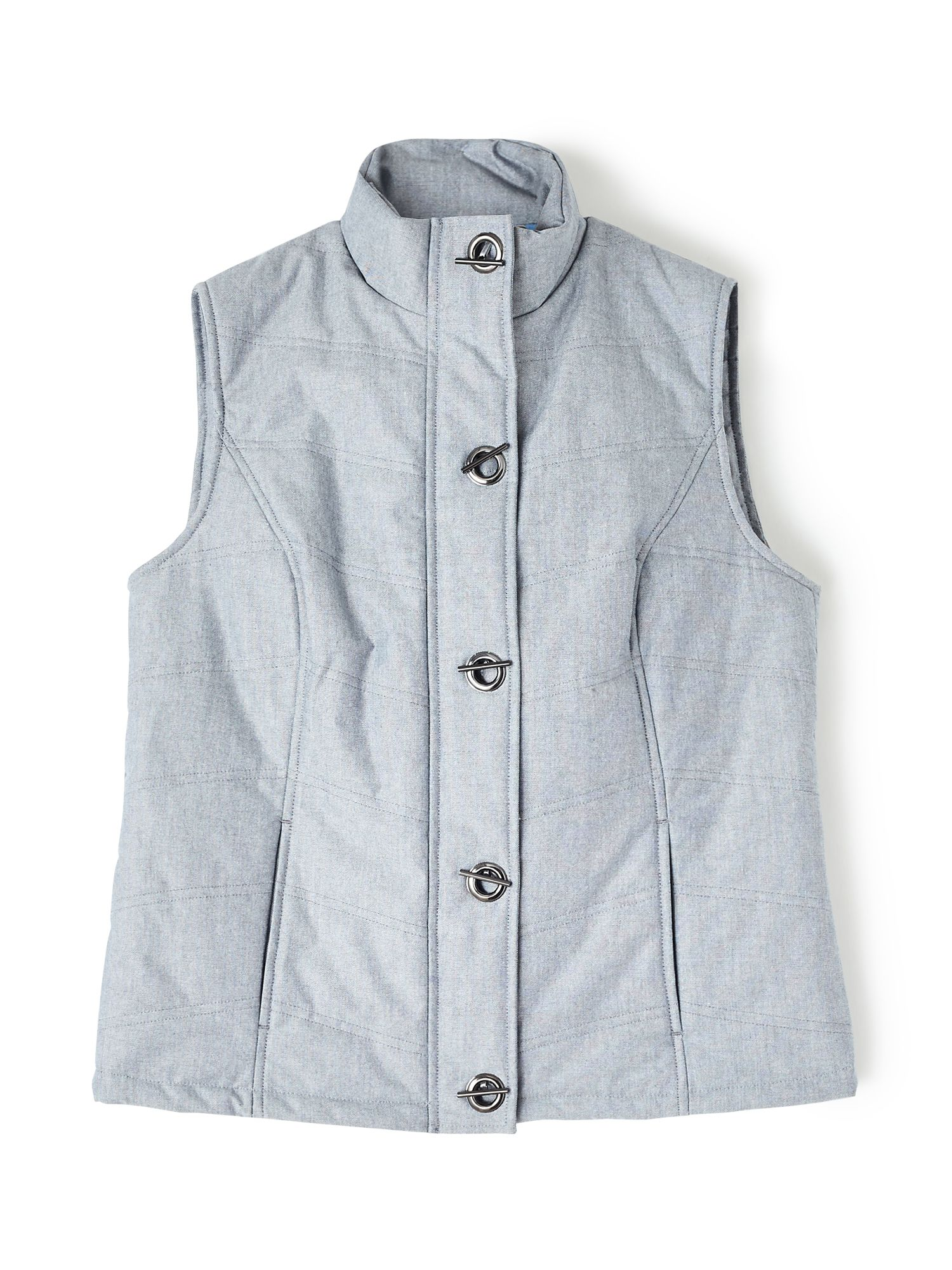 Dash Chambray Padded Gilet, Blue