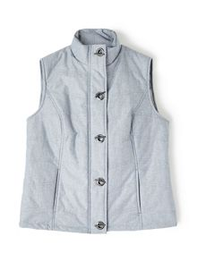 Dash Chambray Padded Gilet