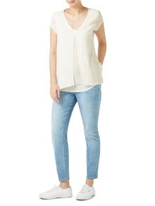 Dash Embroidered Layered Blouse