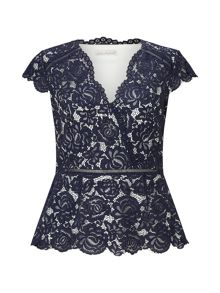 Jacques Vert Lace Structured Top