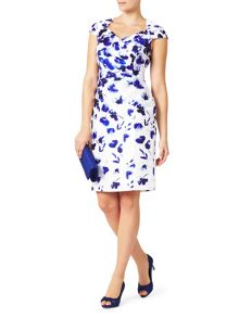Jacques Vert Shantung Border Print Dress
