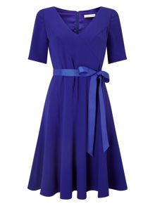 Jacques Vert Crepe Fit And Flare Dress