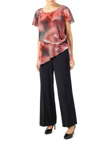 Jacques Vert Tie Sided Printed Blouse