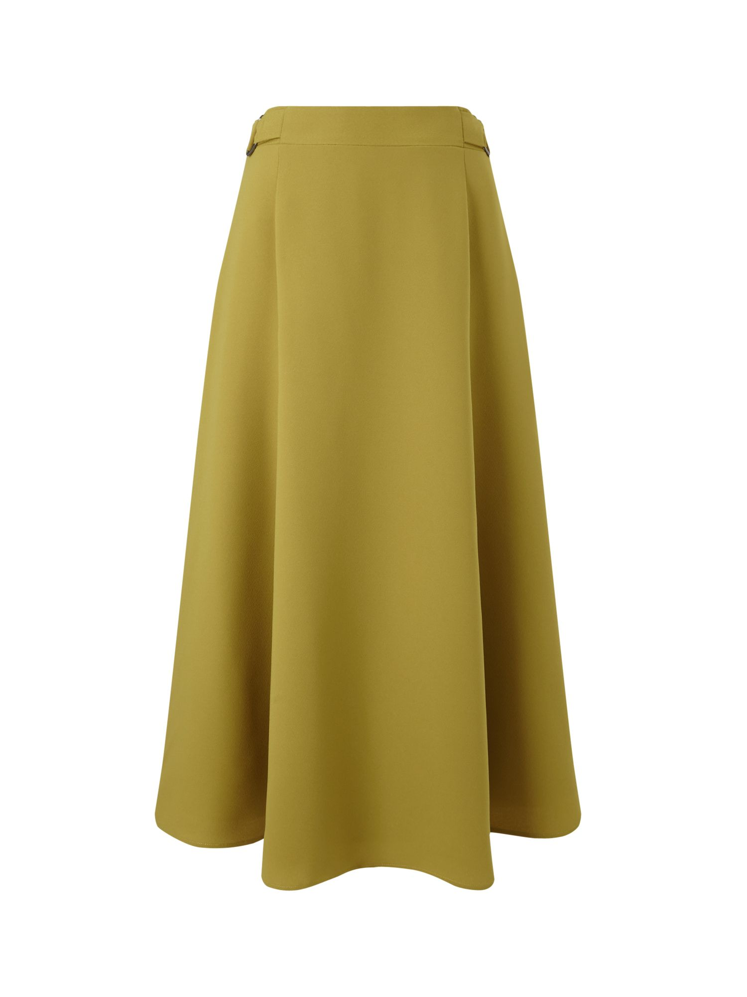 Eastex Crepe Detail Wrap Skirt, Green