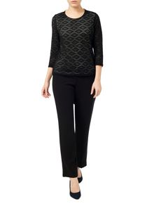 Eastex Layered Jacquard Top
