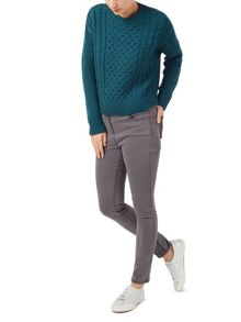 Dash Teal Cable Knit Jumper