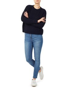 Dash Navy Cable Knit Jumper