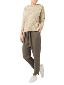 Dash Neutral Cable Knit Jumper