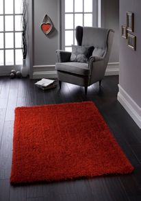 Chicago Shaggy Orange Rug Range