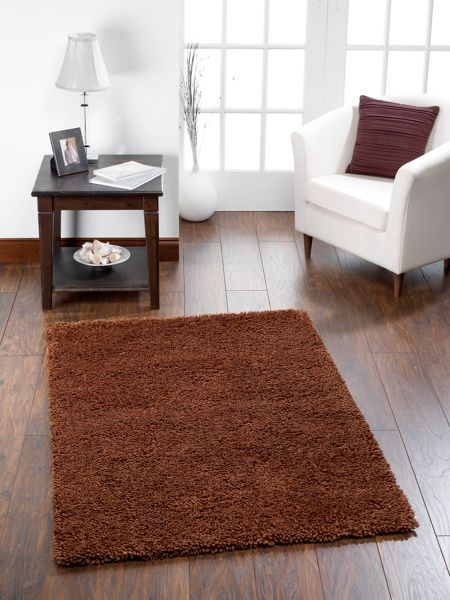 Origin Rugs Chicago Shaggy Rug CHOCOLATE 110/160