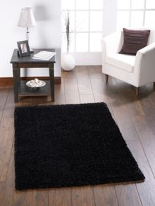 Origin Rugs Chicago Shaggy Black Rug Range