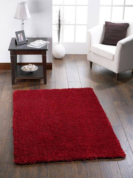 Origin Rugs Chicago Shaggy Rug RED 90/150