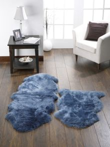 Origin Rugs Sheepskin teal double