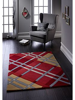 Iona Wool Rug Red 120x170