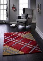 Origin Rugs Iona Wool Rug Red 60x120