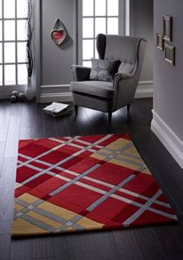 Iona Wool Rug Red Range