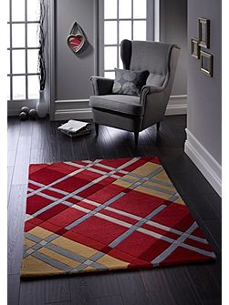 Iona Wool Rug Red 60x120