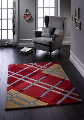 Origin Rugs Iona Wool Rug Red Range