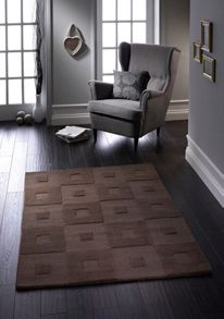 Origin Rugs Manhatan Wool Rug Chocolate Range
