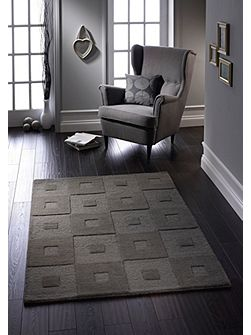 Manhatan Wool Rug Grey 60x120