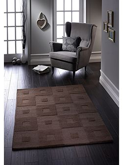 Manhatan Wool Rug Chocolate 120x170