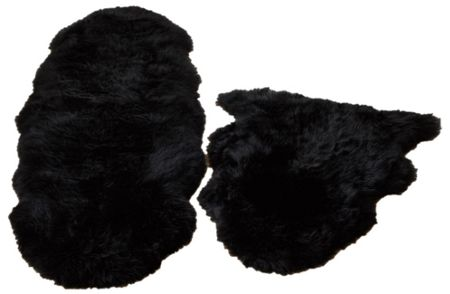 Origin Rugs Sheepskin black single
