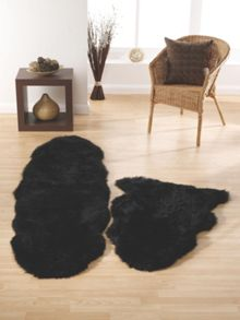 Origin Rugs Sheepskin black double
