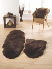 Origin Rugs Sheepskin chocolate double