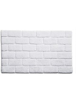 Bamboo Collection White Brick bath mat 60x100