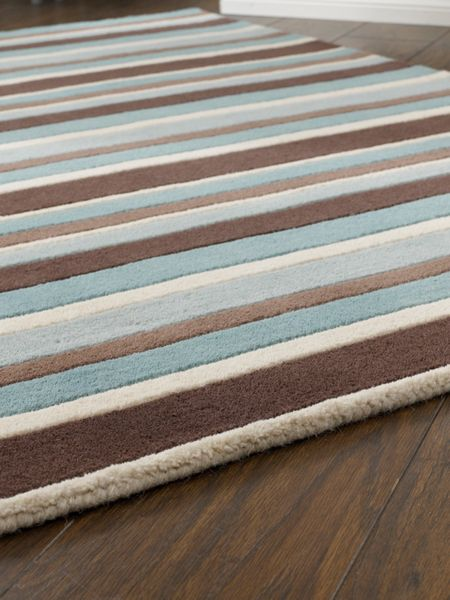 Origin Rugs Carved Stirpes Wool Rug SeaSpray 60x120