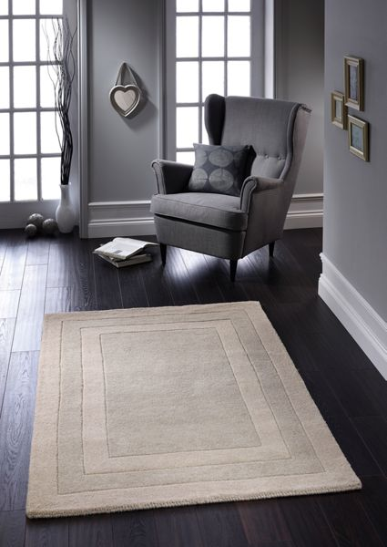 Origin Rugs Clayton border rug taupe 120x170