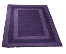 Origin Rugs Clayton border rug purple 60x120