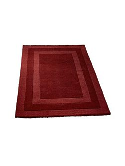 Clayton border rug red 120x170