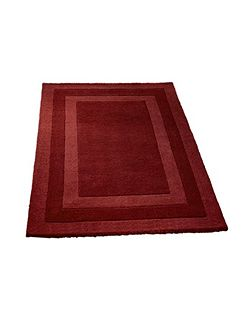 Clayton border rug red 80x150