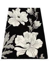 Origin Rugs Magnolia Wool Rug Black 160x230
