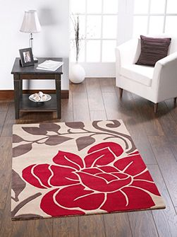 Sasha Wool Rug Red 120x170